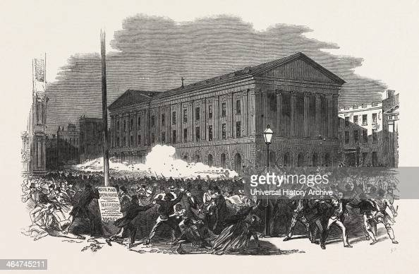 Riot At The Astor Place Operahouse New York United States Of New York 1849