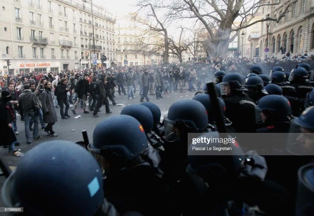 students riot over youth employment contracts getty images. Black Bedroom Furniture Sets. Home Design Ideas