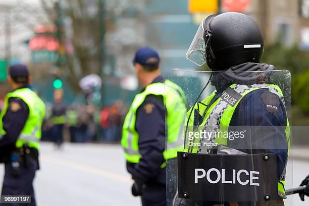 Riot police on alert