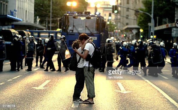 Rioters Clash With Police In Geneva