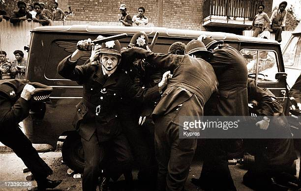 Rioting in Notting Hill London 1976