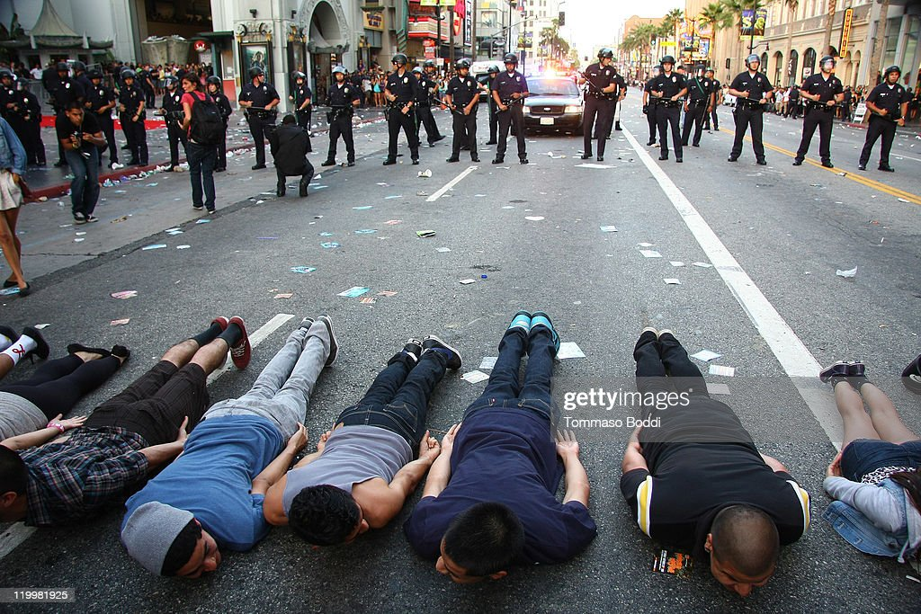 Riots break out at 'Electric Daisy Carnival Experience' Los Angeles premiere held at the Grauman's Chinese Theatre on July 27 2011 in Hollywood...