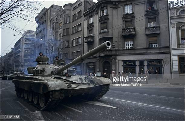 Riots in Belgrade Yougoslavia on March 10 1991