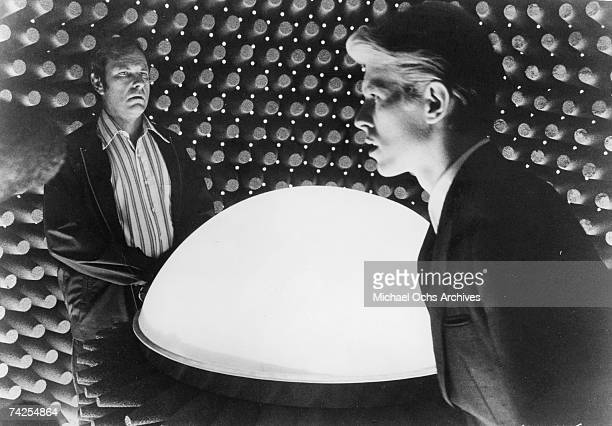 Rip Torn and David Bowie in a scene from the movie 'The Man Who Fell To Earth' in 1976