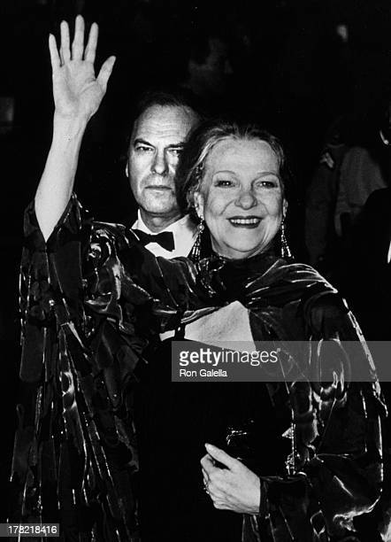 Rip Torn and Geraldine Page attend 59th Annual Academy Awards on March 26 1987 at the Dorothy Chandler Pavilion in Los Angeles California