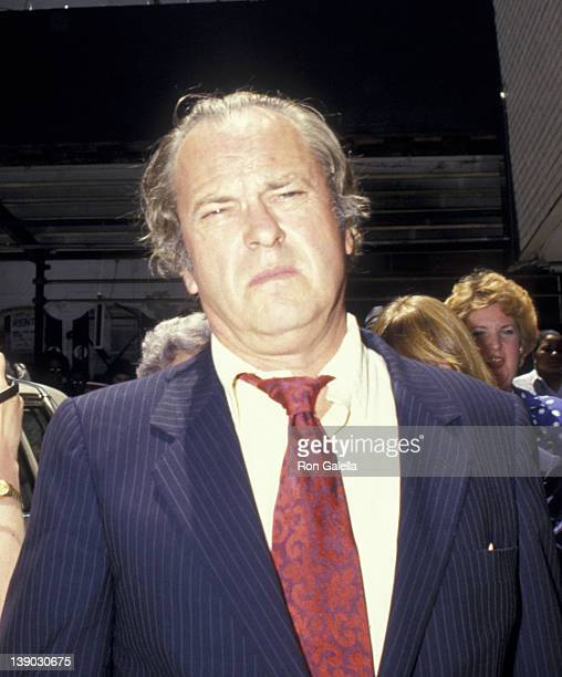 Rip Torn attends Geraldine Page Memorial Service on June 17 1987 at the Neil Simon Theater in New York City