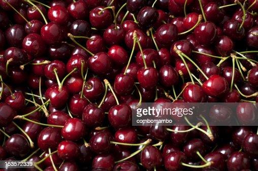 ripe cherry pile