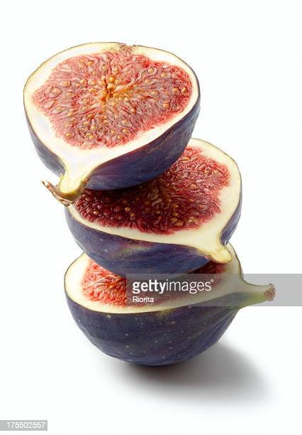 Ripe fig fruits on white background