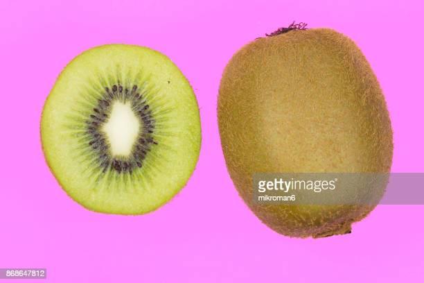 Ripe, fresh fruits, organic kiwi