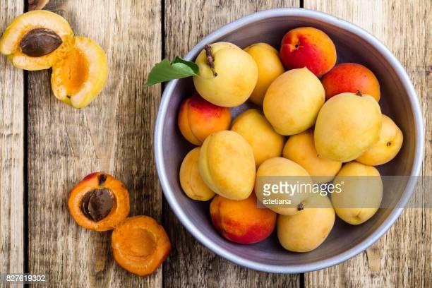 Ripe organic apricots