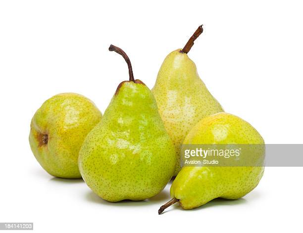 Ripe pear on a white background