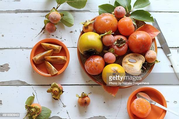 Ripe persimmons