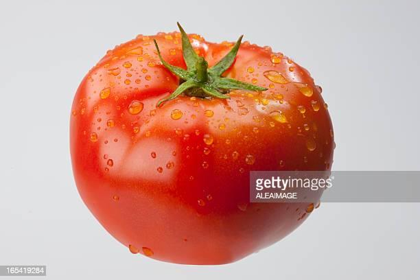 Tomates maduros aislados. Trazado de recorte incluido.
