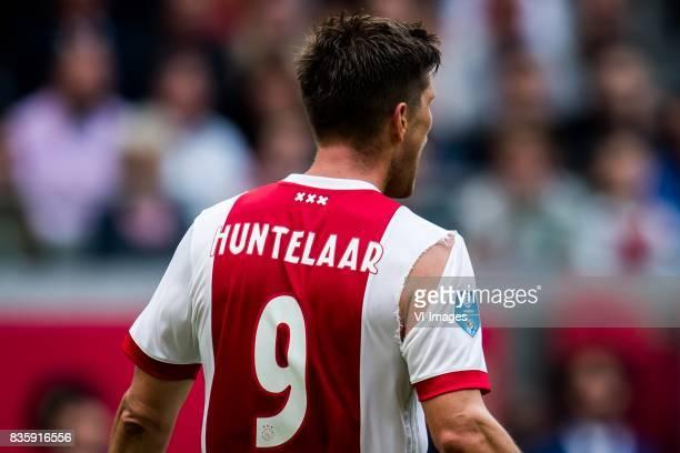ripped shirt of Klaas Jan Huntelaar of Ajax during the Dutch Eredivisie match between Ajax Amsterdam and FC Groningen at the Amsterdam Arena on...