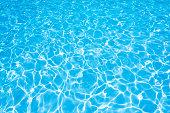 Ripple Water in swimming pool witn sun reflection