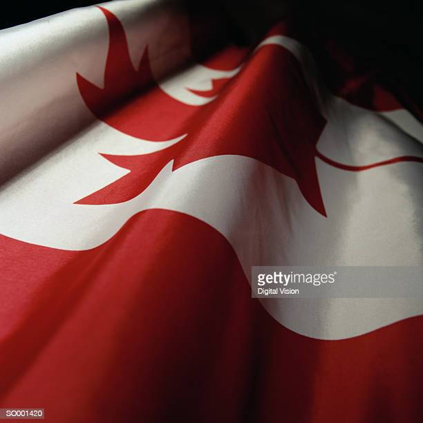 Rippled Canadian flag, detail