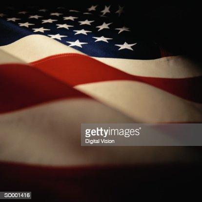 Rippled USA flag, detail