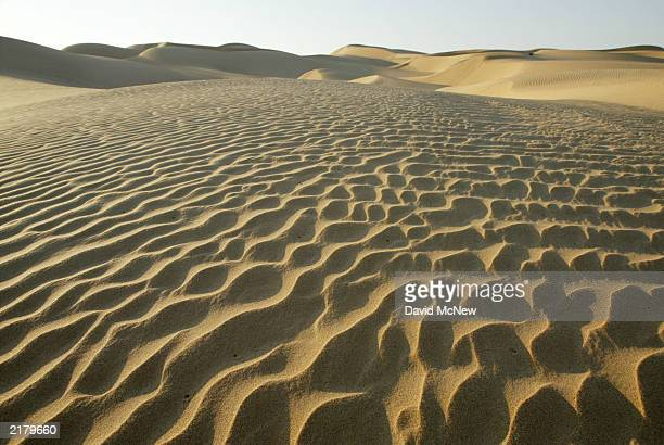 Ripples of shifting sand are seen at the Algodones Dunes also known as the Imperial Dunes or American Sahara on July 20 near Glamis California in the...