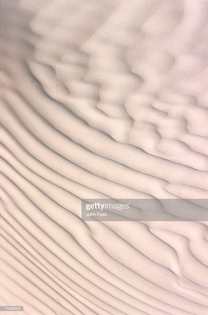 Ripples on sand dunes, full frame : Stock Photo