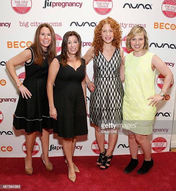 Risa Goldberg Leslie Venokur Emily Prawda Weiss and Lauren Jimeson attend Big City Moms Biggest Baby Shower on April 29 2014 in New York City