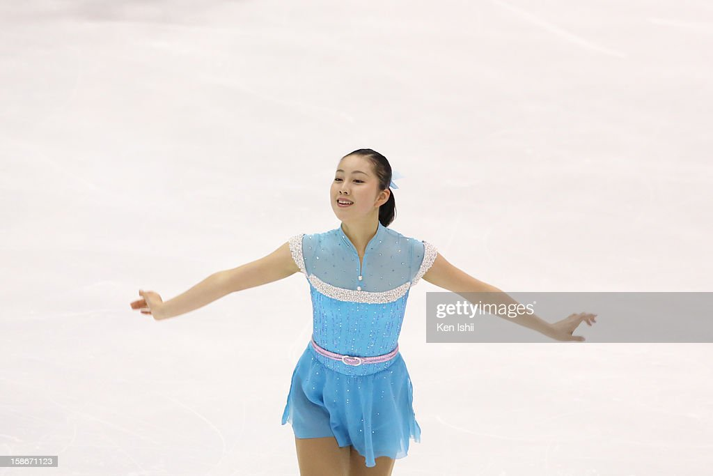 Risa Syoji competes in the Women's Free Program during day three of the 81st Japan Figure Skating Championships at Makomanai Sekisui Heim Ice Arena on December 23, 2012 in Sapporo, Japan.