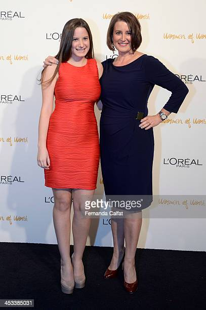Risa Vetri Ferman and her daughter attend L'Oreal Paris' Women of Worth 2013 at The Pierre Hotel on December 3 2013 in New York City