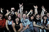 Rise Against Band Hardcore USA fans during performing in Berlin Germany CHalle