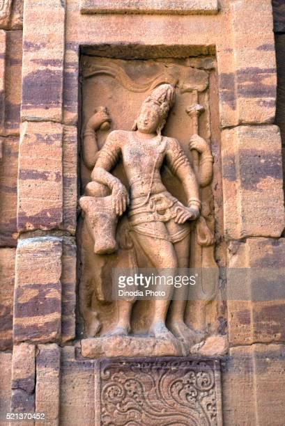 Rishabaroodar, lord Shiva with Rishaba, UNESCO World Heritage Site, sculpture in Pattadakal temple eight century, Karnataka