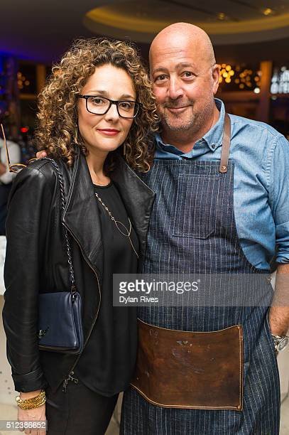 Rishia Zimmern and Andrew Zimmern attend 2016 Food Network Cooking Channel South Beach Wine Food Festival Presented By FOOD WINE at Vagabond...