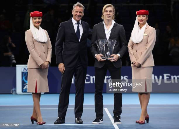 Rising star and the most Improved Player of the Year Award goes to Denis Shapovalov of Canada presented by Chris Kermode Executive Chairman and...
