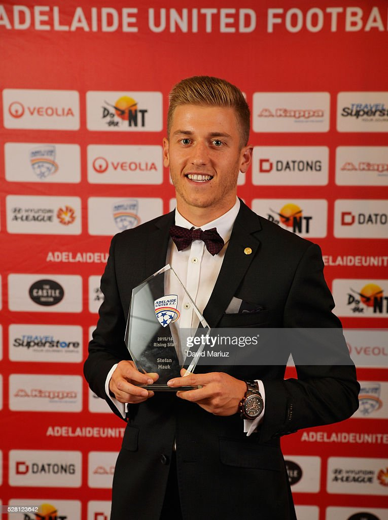 Rising Star Award - Stefan Mauk during the 2016 Adelaide United Awards Night on May 4, 2016 in Adelaide, Australia.