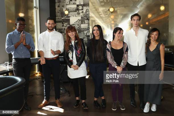 Rising Stars Mary Galloway Theodore Pellerin Jessie Buckley Vinnie Bennett Ellen Wong Mamoudou Athie and Lina El Arabi attend The 2017 Rising Stars...
