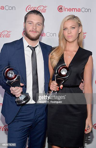 Rising Stars of 2014 award winners Jack Reynor and Nicola Peltz attend The CinemaCon Big Screen Achievement Awards brought to you by The CocaCola...