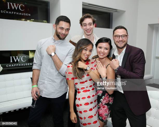TIFF Rising Stars Vinnie Bennett Ellen Wong Theodore Pellerin Mary Galloway and Alexander Onish pose for a photo during the 2017 Toronto...
