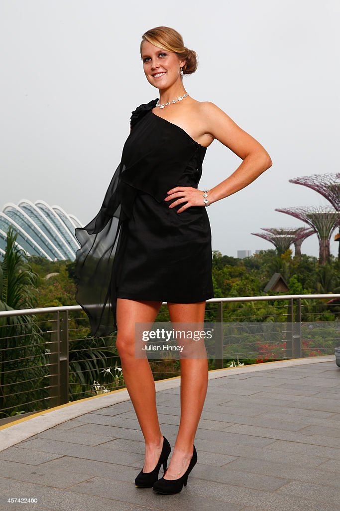 Rising WTA stars Shelby Rogers of USA poses for a photo during previews for the WTA Finals at Marina Bay Sands Hotel on October 18, 2014 in Singapore.
