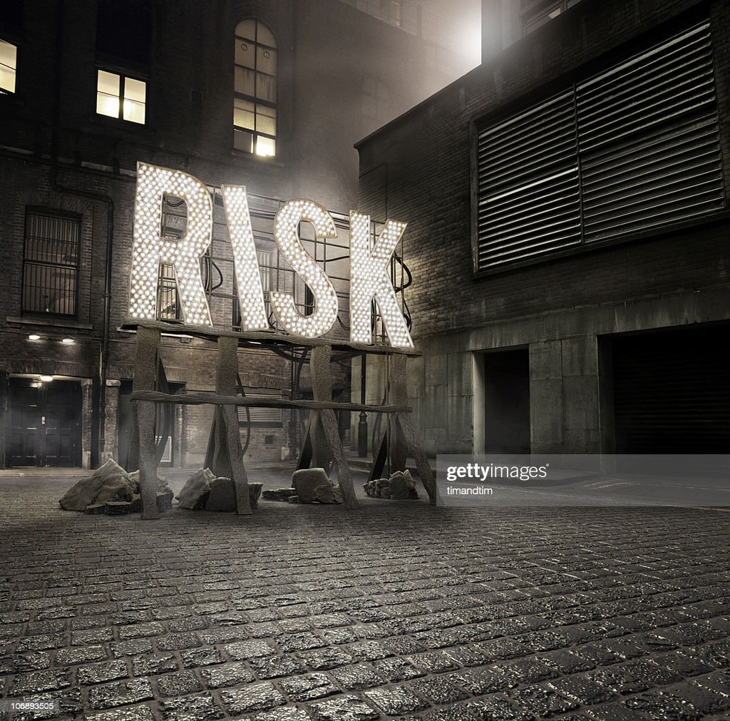 Risk in the Alley : Stock Photo