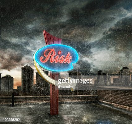 Risk in the city : Stock Photo