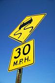 Risk of Skidding Sign