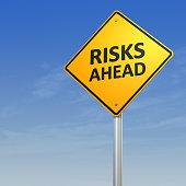 Risks Ahead Warning Sign