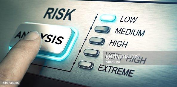 Risks analyze, low risk : Stock Photo