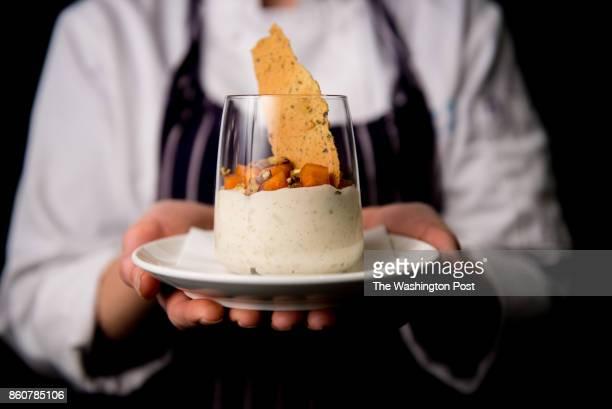 Riso E Budino vanilla rice pudding pistachio and persimmon at Centrolina