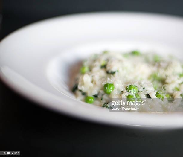 Risotto with peas and fava beans