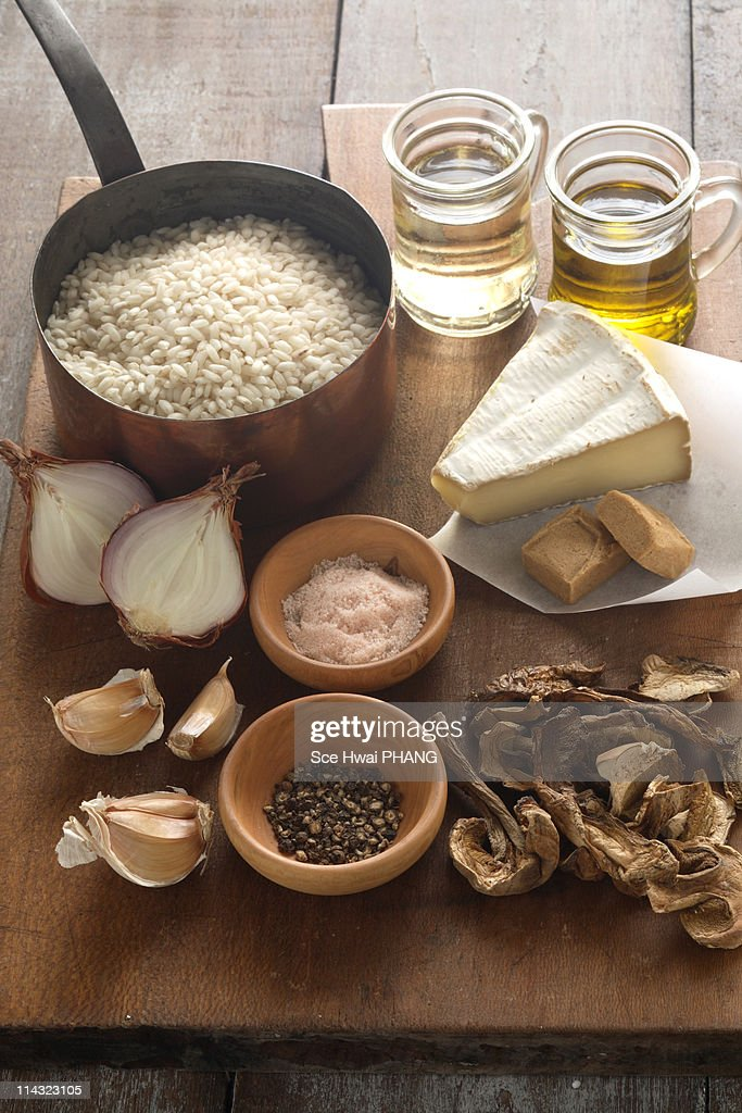 Risotto with porcini mushrooms  ingredients