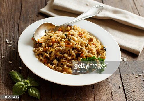 Risotto with vegetables and spices : Stock Photo
