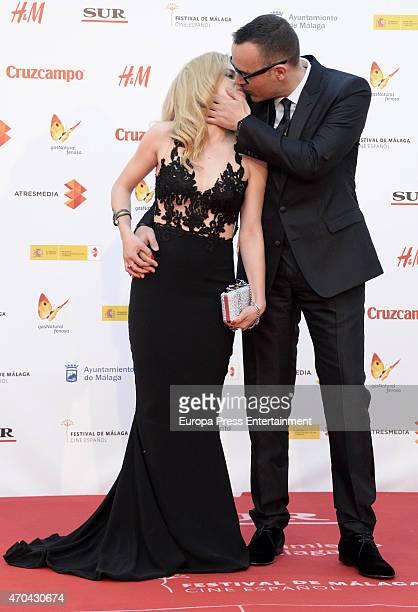 Risto Mejide and Carla Nieto attend 'La Deuda' premiere during the 18th Malaga Film Festival on April 18 2015 in Malaga Spain