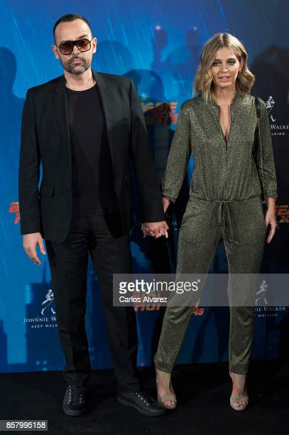 Risto Mejide and Laura Escanes attend 'Blade Runner 2049' premiere at the Callao cinema on October 5 2017 in Madrid Spain