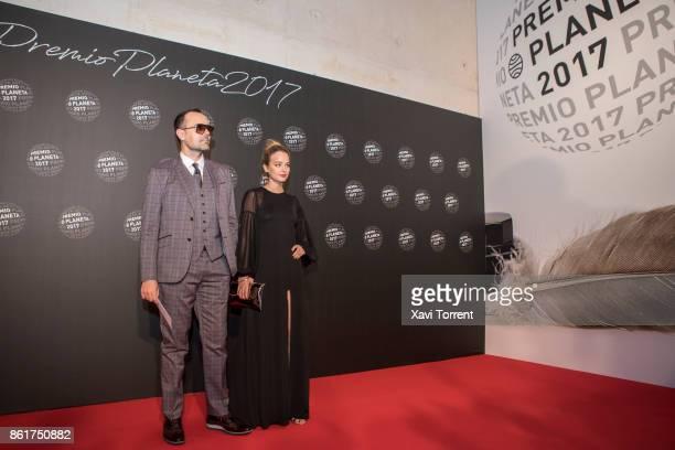 Risto Mejide and Laura Escanes attend the 2017 Premio Planeta award on October 15 2017 in Barcelona Spain