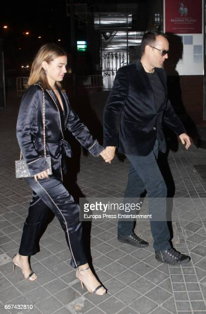 Risto Mejide and Laura Escanes attend the Monica Cruz's 40th birthday party on March 14 2017 in Madrid Spain