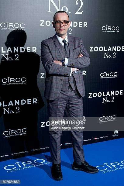 Risto Mejide attends the Madrid Fan Screening of the Paramount Pictures film 'Zoolander No 2' at the Capitol Theater on February 1 2016 in Madrid...