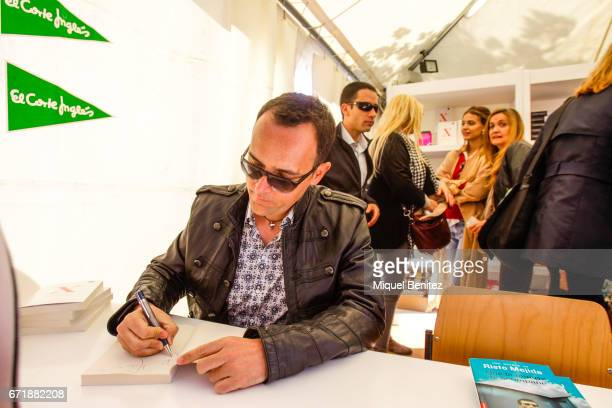 Risto Mejide signing books during 'Sant Jordi's Day' 'Saint George's Day' at Plaa Catalunya on April 23 2017 in Barcelona Spain
